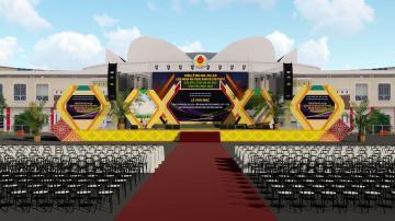 Thiết kế sân khấu khai mạc Lễ hội Ok Om Bok Trà Vinh 2020