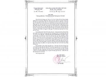 Thư mời của UBND tỉnh Trà Vinh