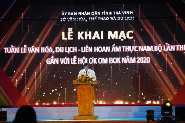 Khai Mạc Tuần Lễ Văn Hóa Du Lịch Liên Hoan Ẩm Thực Nam Bộ tỉnh Trà Vinh Lần Thứ II 2020